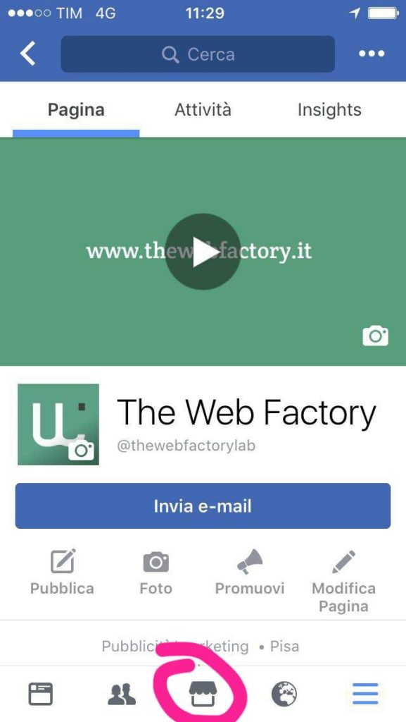 Marketplace di Facebook su Mobile