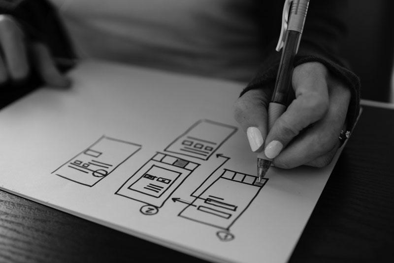 progettazione e realizzazione di un sito web immagine del wireframe
